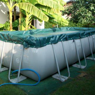 Copertura invernale kit chiusura piscina fuoriterra intex bestway ultra frame rettangolare - Piscina olgiate comasco ...
