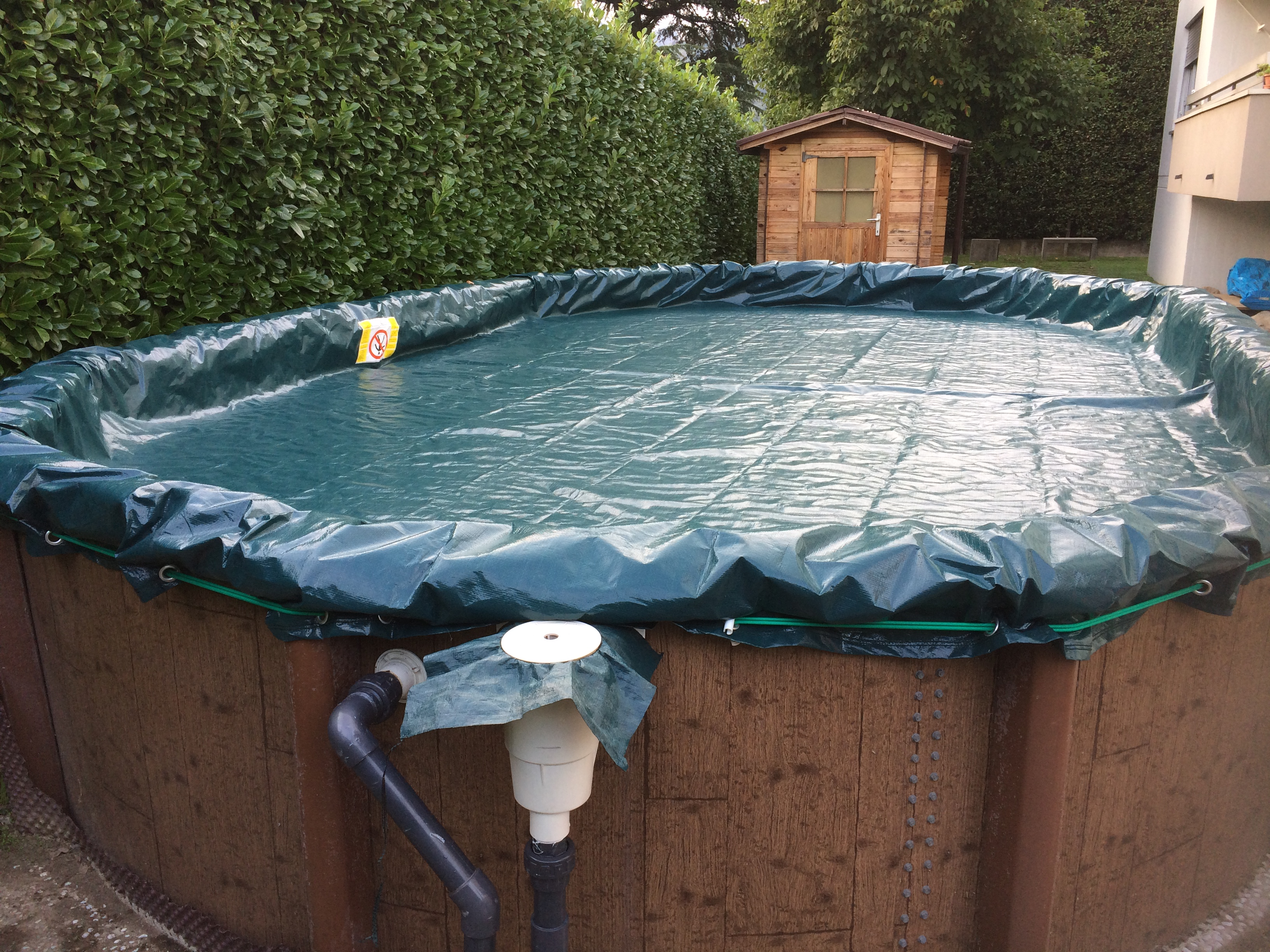Copertura invernale kit chiusura piscina fuoriterra gre ovale 730x375 castelflora - Chiusura invernale piscina ...