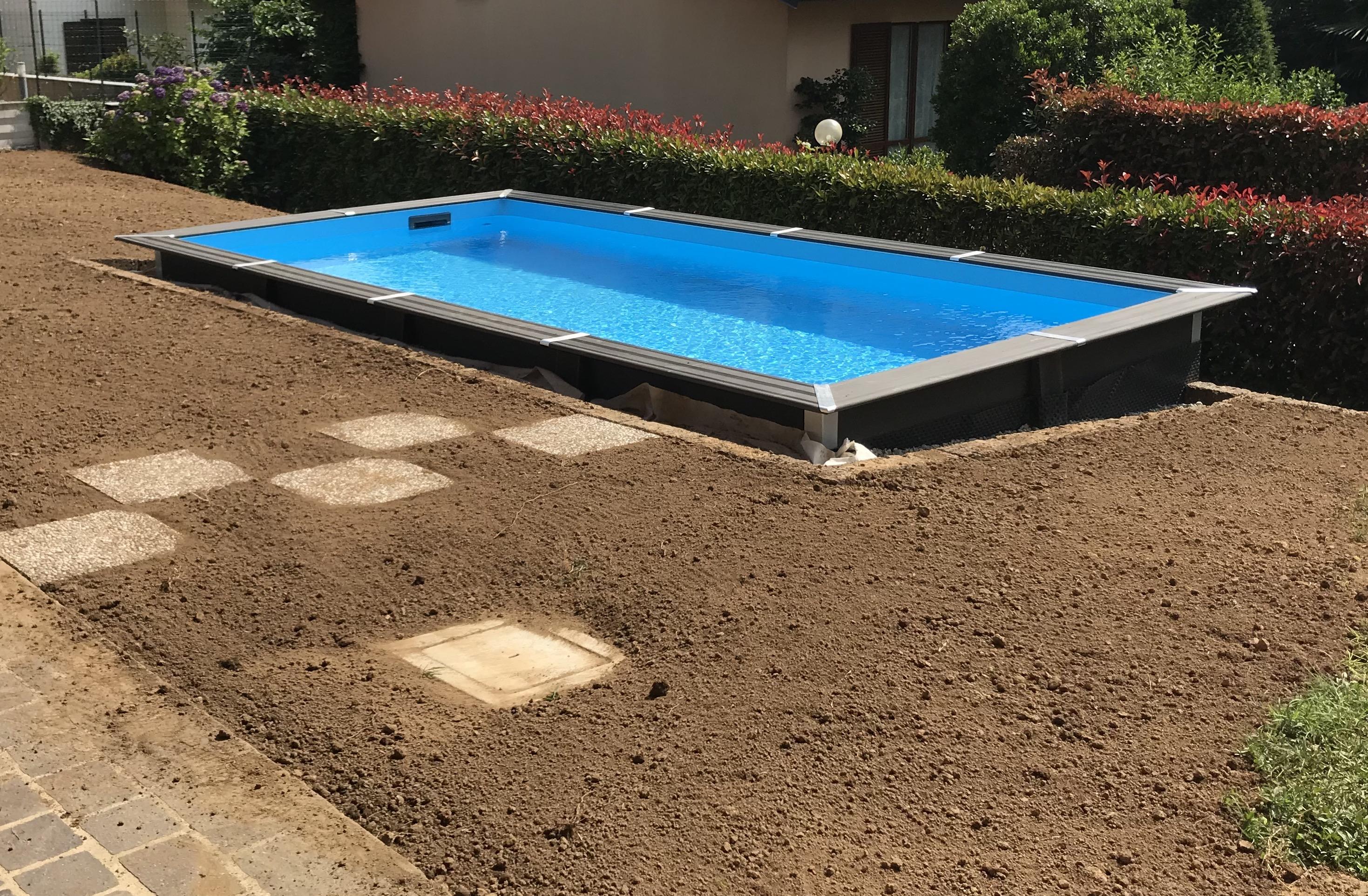 Piscina Da Esterno Fuori Terra piscina fuoriterra avantgarde rettangolare 606 x 326 cm - gre